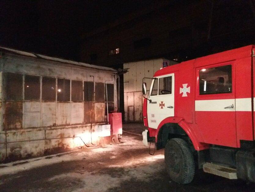 Пожар, ТЭС, Харьковская область