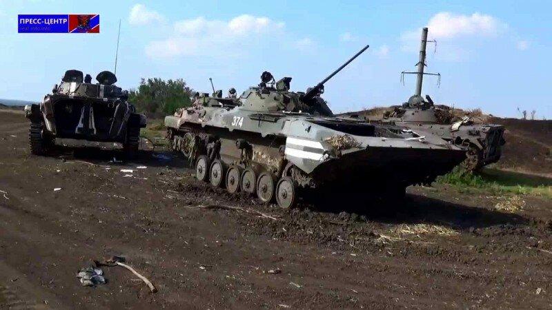 Уничтоженная техника украинской армии под Свердловском