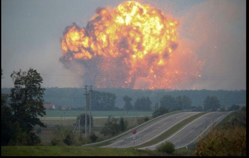 Взрыв склада в Калиновке, фото