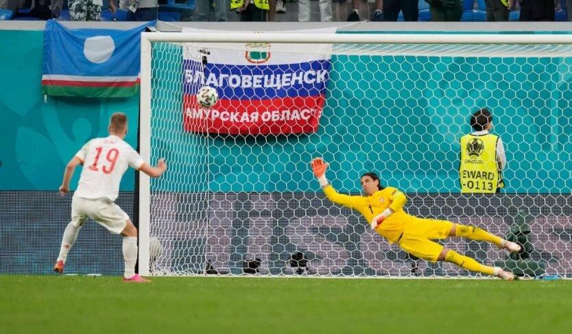Испания стала первым полуфиналистом Евро, обыграв Швейцарию