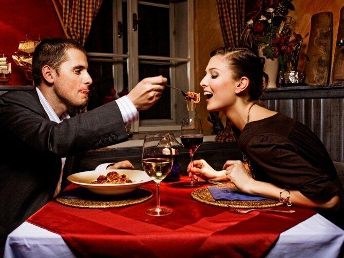 ужин вино ресторан пара