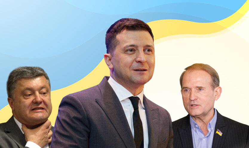 Петр Порошенко, Владимир Зеленский, Виктор Медведчук, Украина, санкции