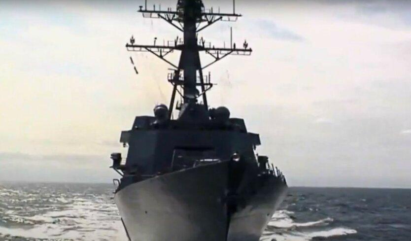 """Ракетный эсминец США """"проследит"""" за учениями Путина в Черном море"""