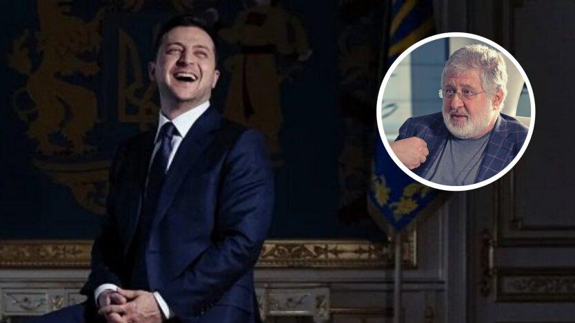 президент украины владимир зеленский и олигарх игорь коломойский