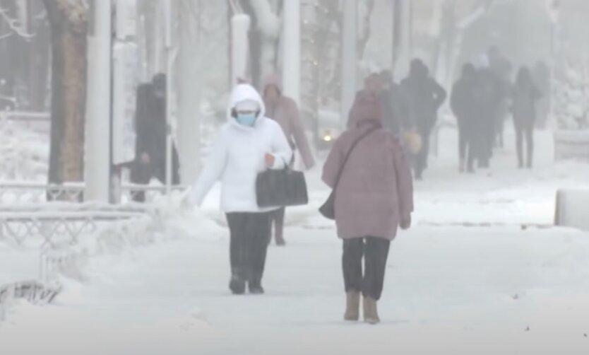 Снег в Украине, погода в украине, погода в киеве