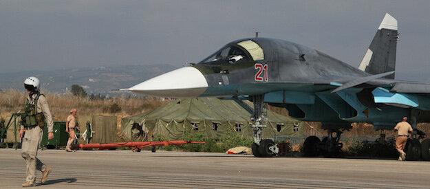 Российская боевая авиация на аэродроме «Хмеймим» в Сирии
