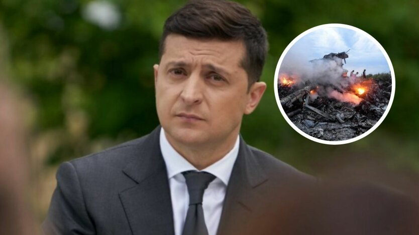 Зеленский обратился к украинцам в годовщину сбития МН17 на Донбассе