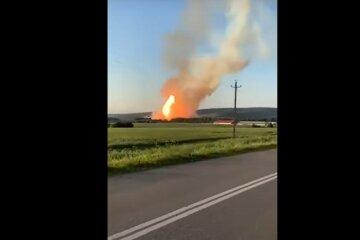 Взрыв на газопроводе Уренгой-Центр