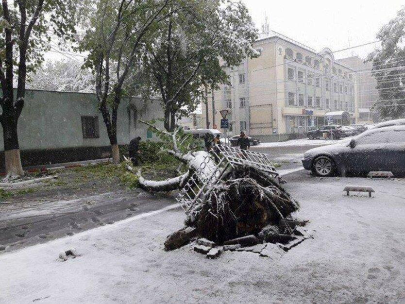 Молдова, непогода в Кишеневе