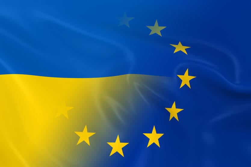 Ukrainian and European Relations Concept Image