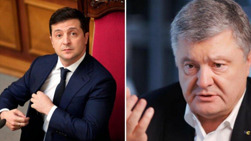 Владимир Зеленский, Петр Порошенко, рейтинг зеленского, рейтинг политиков