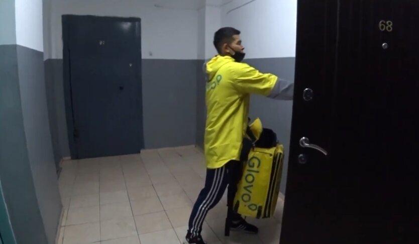 Доставка Glovo, курьерская доставка, украинцы