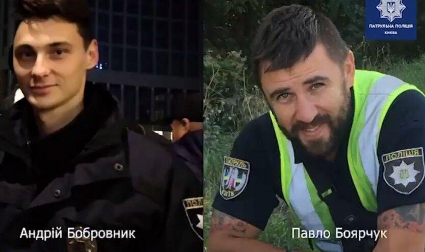 Патрульные Киева спасли женщину за секунду до смерти: видео