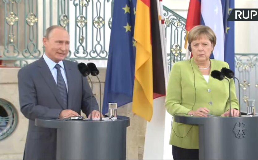 Владимир Путин и Ангела Меркель, телефонный разговор, эскалация на востоке Украины