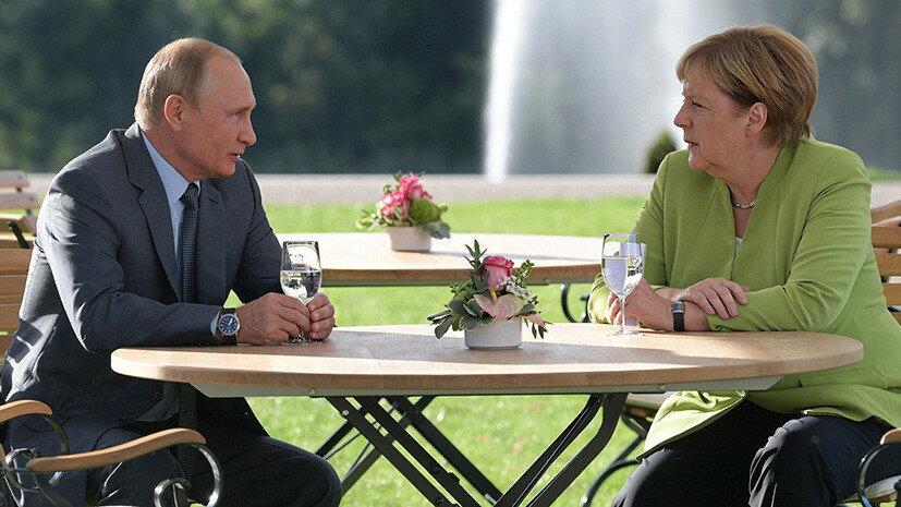 Ангела Меркель_Владимир Путин