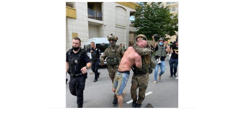 Стрелка в Киеве задержали