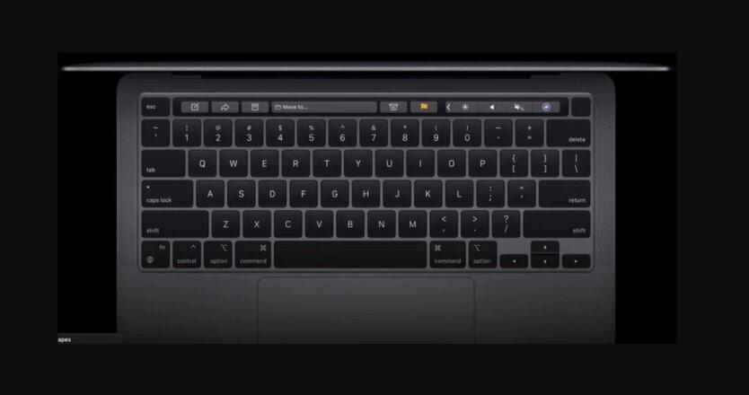 Клавиатура MacBook