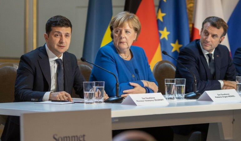 Владимир Зеленский Ангела Меркель 4