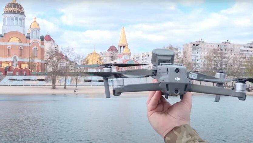 В Киеве нарушителей карантина теперь «отлавливают» с воздуха: видео