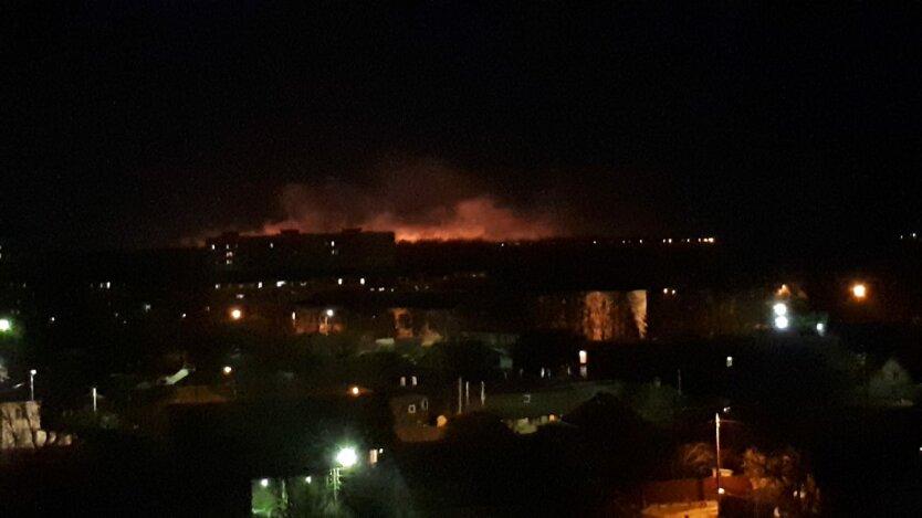Пожар в Броварах, пожар под Киевом