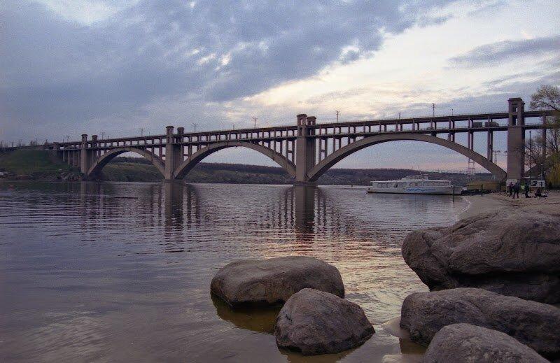 мост Преображенского Запорожье