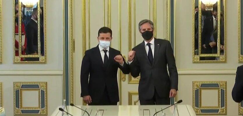 Энтони Блинкен и Владимир Зеленский