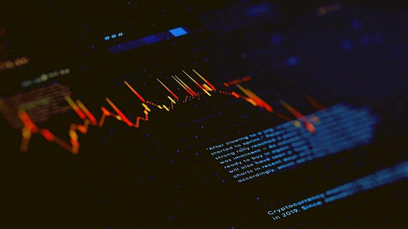 Динамика стоимости криптовалют (биткоина)