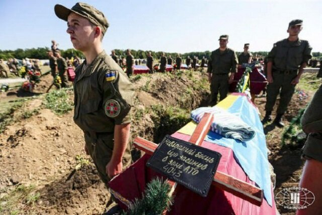 похороны украинского солдата ВСУ груз 200