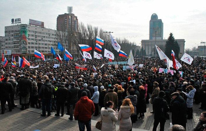 Митинг в Донецке2