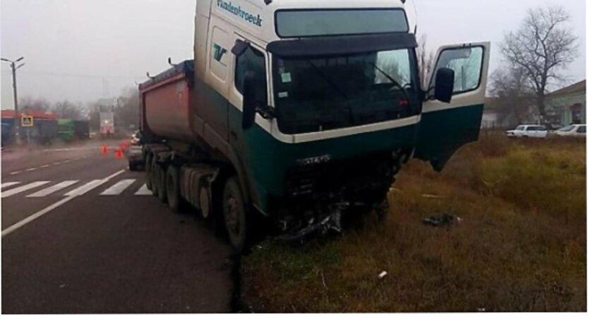ДТН на Николаевщине, ГСЧС, Жертвы ДТП, Столкновение легковушки и грузовика