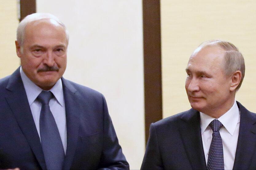 Александр Лукашенко,Владимир Путин,Борис Ельцин,президент России