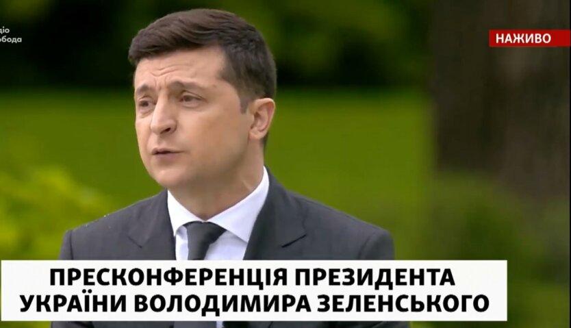 Владимир Зеленский, нормандская встреча, Путин, Меркель и Макрон, пресс-конференция