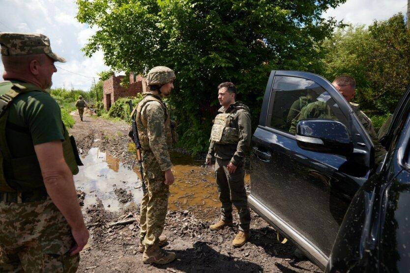 Владимир Зеленский на Донбассе, фото - пресс-служба президента Украины