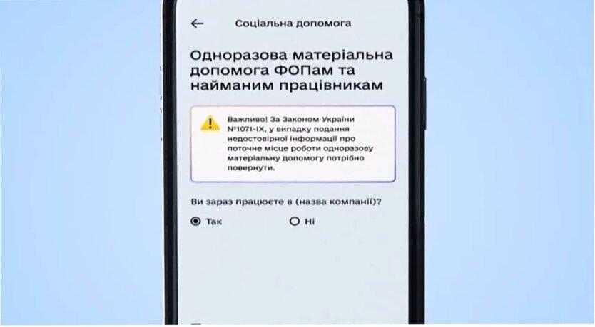 """Приложение """"Дія"""", Карантинные выплаты в Украине, Получение 8 000 гривен"""