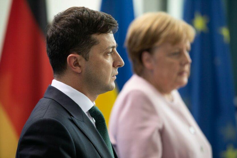 Владимир Зеленский Ангела Меркель 3