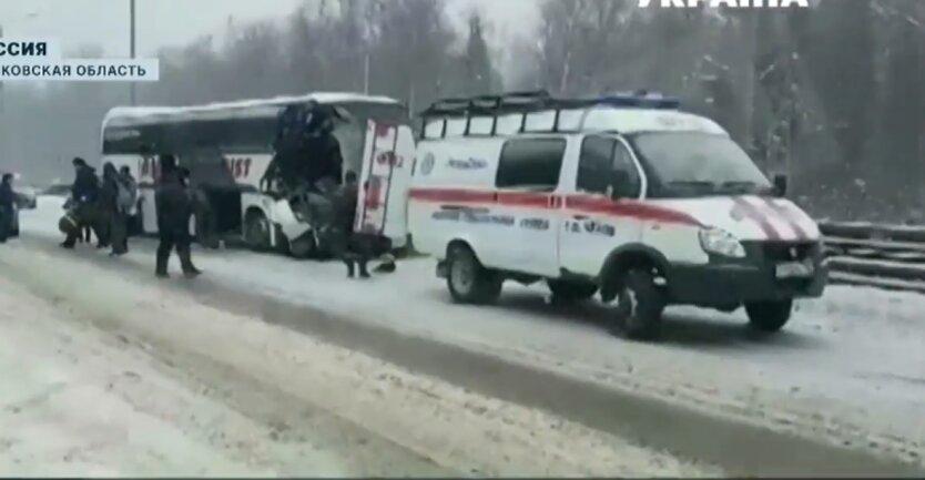 Авария в России, автобус с украинцами, пострадавшие