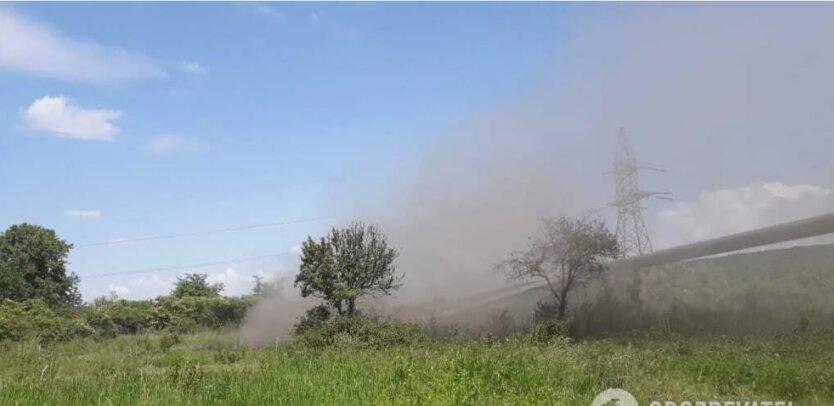 Взрыв газопровода в Клузиве