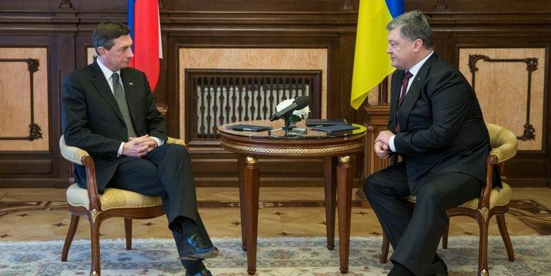 Борут Пахор и Порошенко