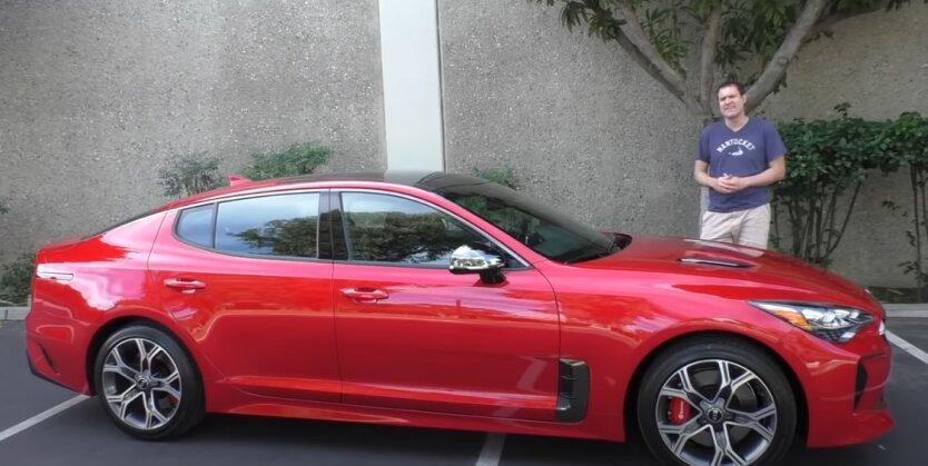 KIA Stinger GT, дизайн, авто
