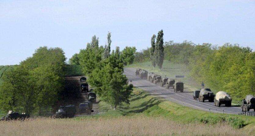 В направлении Беларуси зафиксировали колонну военной техники