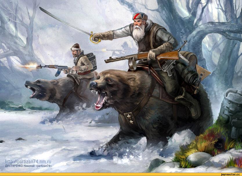 Россия медведи