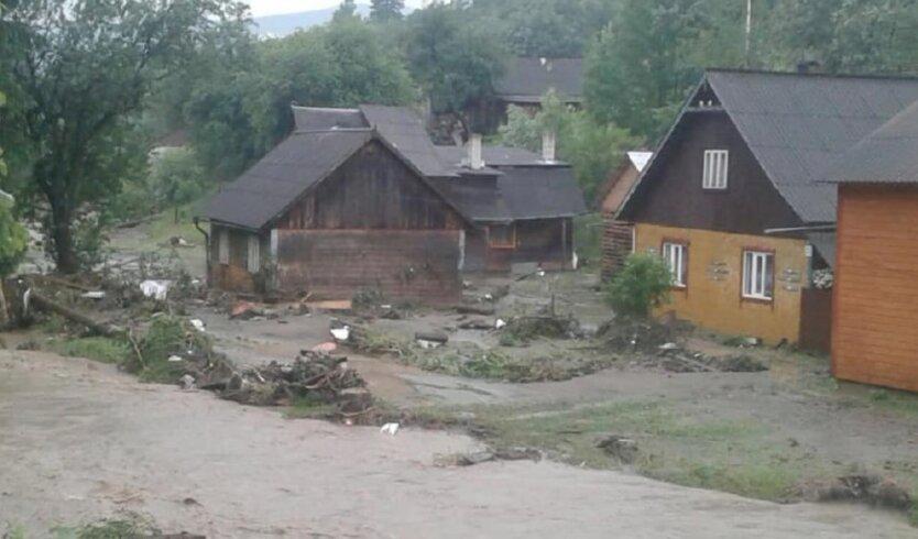 На Закарпатье дожди затопили улицы и дома: фото
