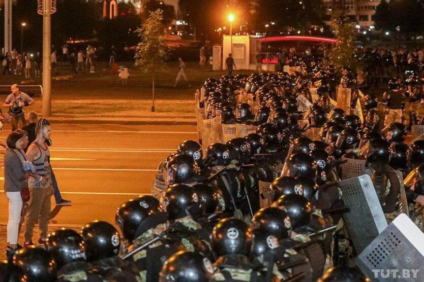 Центр Минска, выборы президента беларуси, протесты в беларуси