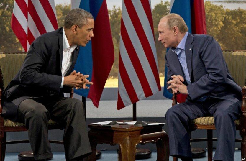 Барак Обама Владимир Путин