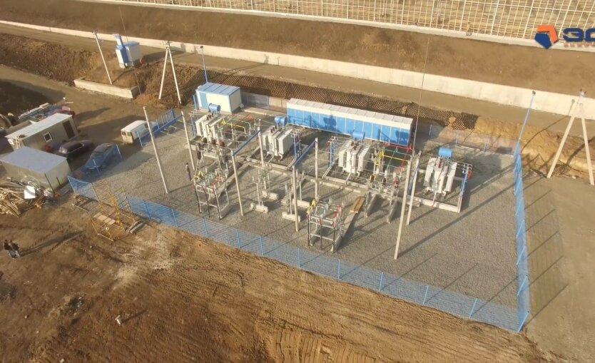 строительство подстанции, электричество в Украине, Укрэнерго