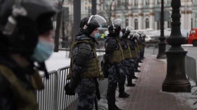 Акции протеста в России, ОМОН РФ, Алексей Навальный, Митинги в России