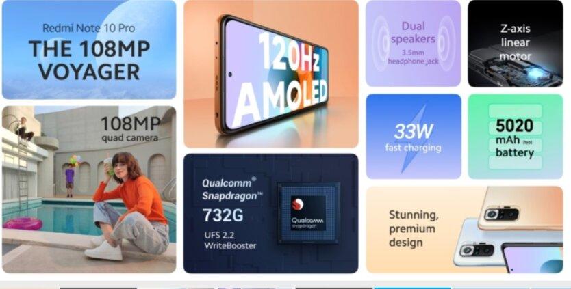 Xiaomi анонсировала Redmi Note 10 Pro: названы цены в Украине