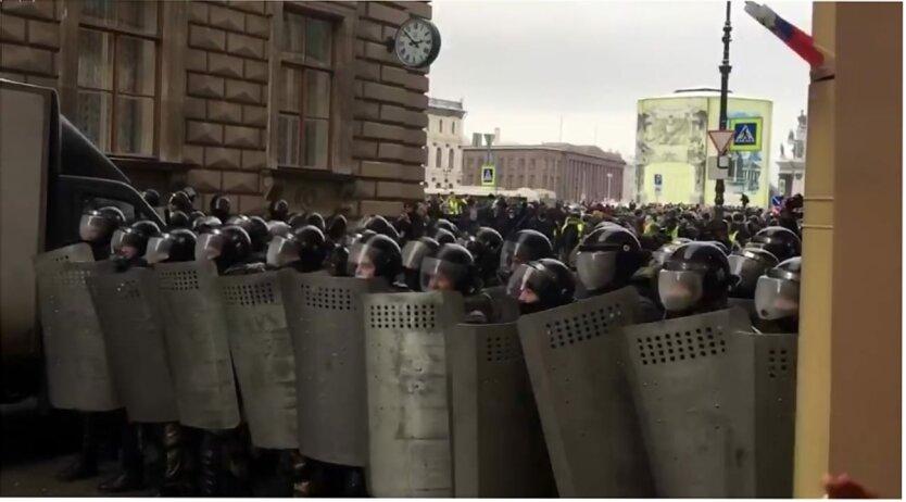 Протесты в России, Столкновения в России, Алексей Навальный, ОМОН в России