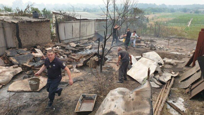 Пожар на Луганщине, лесной пожар в луганской области