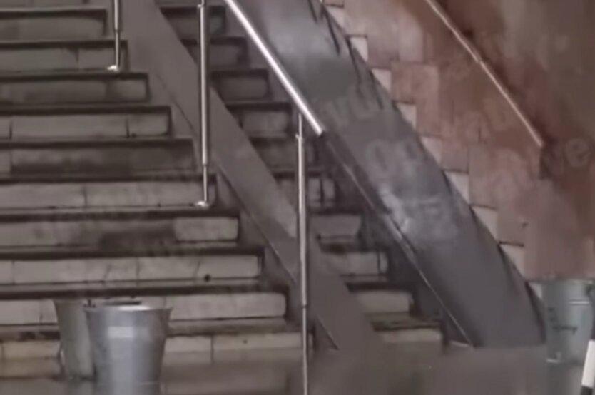 В Киеве затопило станцию метро